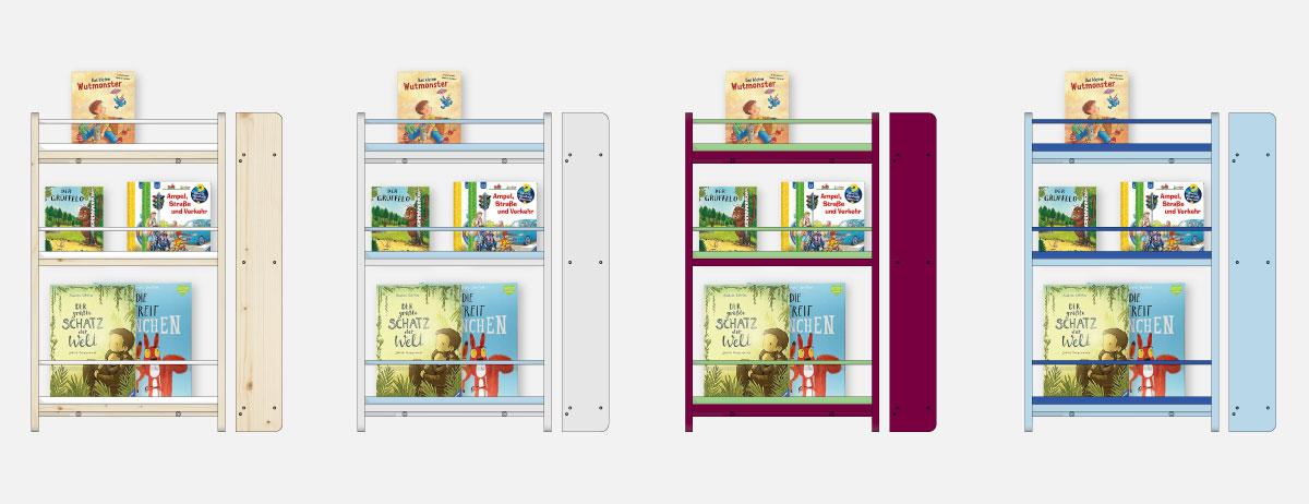 Farbvarianten, DIY - Wandregal für Kinderbücher